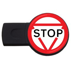 Stop Sign Usb Flash Drive Round (2 Gb) by Alisyart