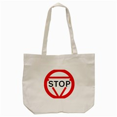 Stop Sign Tote Bag (cream) by Alisyart