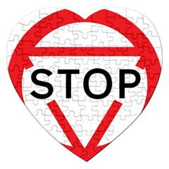 Stop Sign Jigsaw Puzzle (heart) by Alisyart