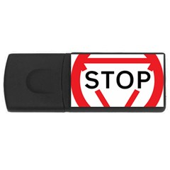 Stop Sign Usb Flash Drive Rectangular (4 Gb) by Alisyart