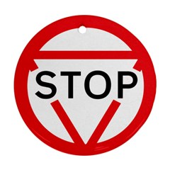 Stop Sign Round Ornament (two Sides) by Alisyart