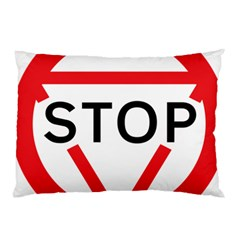 Stop Sign Pillow Case by Alisyart