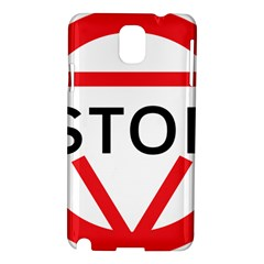 Stop Sign Samsung Galaxy Note 3 N9005 Hardshell Case