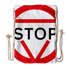 Stop Sign Drawstring Bag (large) by Alisyart