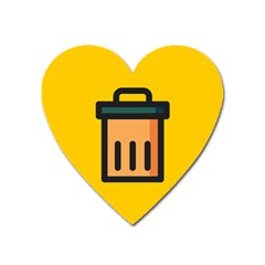 Trash Bin Icon Yellow Heart Magnet by Alisyart