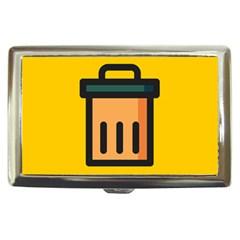 Trash Bin Icon Yellow Cigarette Money Cases by Alisyart