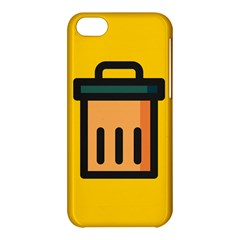Trash Bin Icon Yellow Apple Iphone 5c Hardshell Case by Alisyart