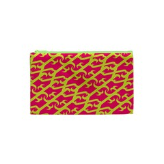 Typeface Variety Postcards Unique Illustration Yellow Red Cosmetic Bag (xs) by Alisyart