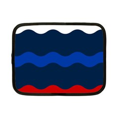 Wave Line Waves Blue White Red Flag Netbook Case (small)  by Alisyart