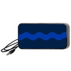 Wave Line Waves Blue White Red Flag Portable Speaker (black) by Alisyart