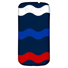 Wave Line Waves Blue White Red Flag Samsung Galaxy S3 S Iii Classic Hardshell Back Case by Alisyart