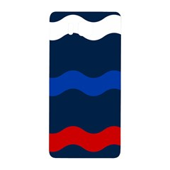 Wave Line Waves Blue White Red Flag Samsung Galaxy Alpha Hardshell Back Case by Alisyart