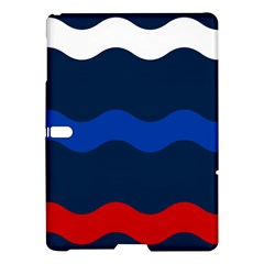 Wave Line Waves Blue White Red Flag Samsung Galaxy Tab S (10 5 ) Hardshell Case  by Alisyart