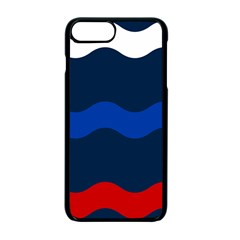 Wave Line Waves Blue White Red Flag Apple Iphone 7 Plus Seamless Case (black) by Alisyart