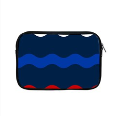 Wave Line Waves Blue White Red Flag Apple Macbook Pro 15  Zipper Case by Alisyart