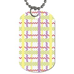 Webbing Plaid Color Dog Tag (one Side) by Alisyart