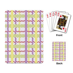 Webbing Plaid Color Playing Card by Alisyart