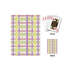 Webbing Plaid Color Playing Cards (mini)  by Alisyart