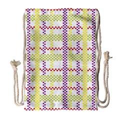Webbing Plaid Color Drawstring Bag (large)