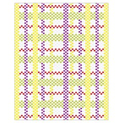 Webbing Plaid Color Drawstring Bag (small) by Alisyart