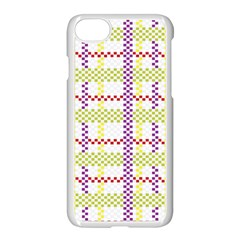 Webbing Plaid Color Apple Iphone 7 Seamless Case (white) by Alisyart