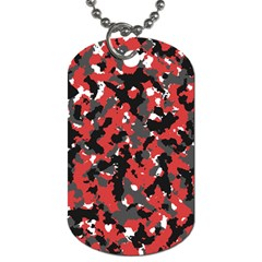 Spot Camuflase Red Black Dog Tag (two Sides) by Alisyart