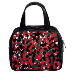 Spot Camuflase Red Black Classic Handbags (2 Sides) by Alisyart