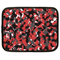 Spot Camuflase Red Black Netbook Case (xxl)  by Alisyart