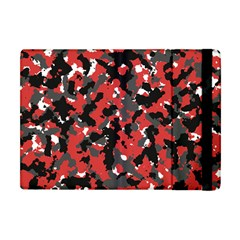 Spot Camuflase Red Black Apple Ipad Mini Flip Case by Alisyart