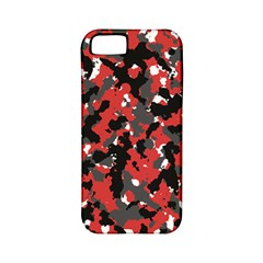 Spot Camuflase Red Black Apple Iphone 5 Classic Hardshell Case (pc+silicone) by Alisyart