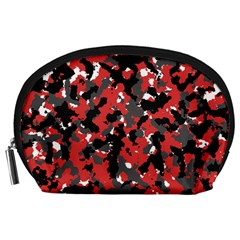 Spot Camuflase Red Black Accessory Pouches (large)  by Alisyart