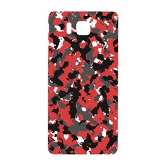 Spot Camuflase Red Black Samsung Galaxy Alpha Hardshell Back Case by Alisyart