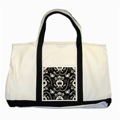 Wrapping Paper Nightmare Monster Sinister Helloween Ghost Two Tone Tote Bag by Alisyart