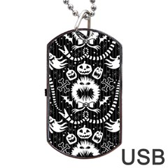 Wrapping Paper Nightmare Monster Sinister Helloween Ghost Dog Tag Usb Flash (two Sides) by Alisyart