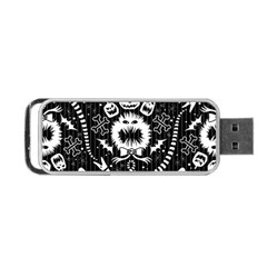Wrapping Paper Nightmare Monster Sinister Helloween Ghost Portable Usb Flash (one Side) by Alisyart