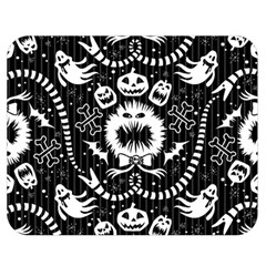 Wrapping Paper Nightmare Monster Sinister Helloween Ghost Double Sided Flano Blanket (medium)  by Alisyart