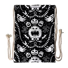Wrapping Paper Nightmare Monster Sinister Helloween Ghost Drawstring Bag (large) by Alisyart