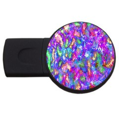 Abstract Trippy Bright Sky Space Usb Flash Drive Round (2 Gb)