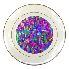 Abstract Trippy Bright Sky Space Porcelain Plates by Simbadda