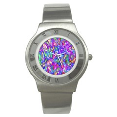 Abstract Trippy Bright Sky Space Stainless Steel Watch by Simbadda