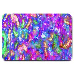 Abstract Trippy Bright Sky Space Large Doormat  by Simbadda