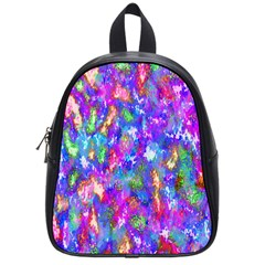 Abstract Trippy Bright Sky Space School Bags (small)  by Simbadda