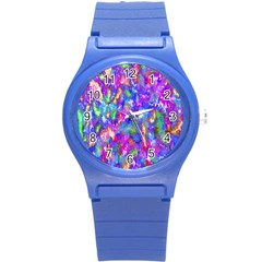 Abstract Trippy Bright Sky Space Round Plastic Sport Watch (s) by Simbadda