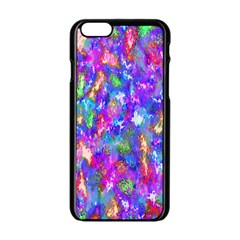 Abstract Trippy Bright Sky Space Apple Iphone 6/6s Black Enamel Case by Simbadda