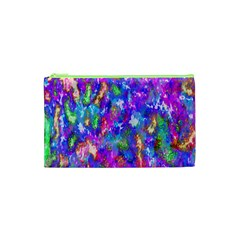 Abstract Trippy Bright Sky Space Cosmetic Bag (xs) by Simbadda