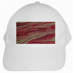 Scaly Pattern Colour Green Pink White Cap by Alisyart