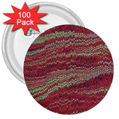 Scaly Pattern Colour Green Pink 3  Buttons (100 Pack)  by Alisyart