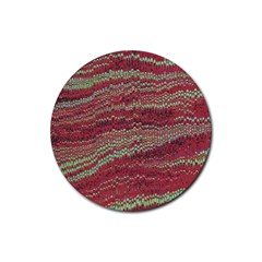 Scaly Pattern Colour Green Pink Rubber Coaster (round)  by Alisyart