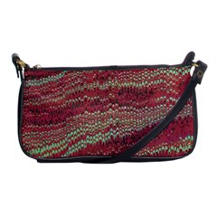 Scaly Pattern Colour Green Pink Shoulder Clutch Bags by Alisyart