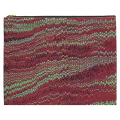 Scaly Pattern Colour Green Pink Cosmetic Bag (xxxl)  by Alisyart
